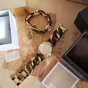 MICHEAL KORS WATCH AND BRACELET